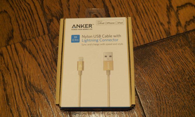 【安価】ANKERのLightningケーブルを買いました。