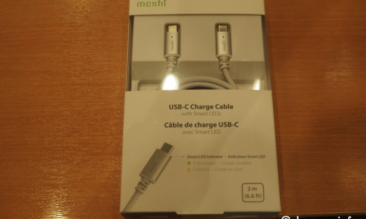 【LED付き】moshi USB-C Charge Cable with Smart LEDを買いました。