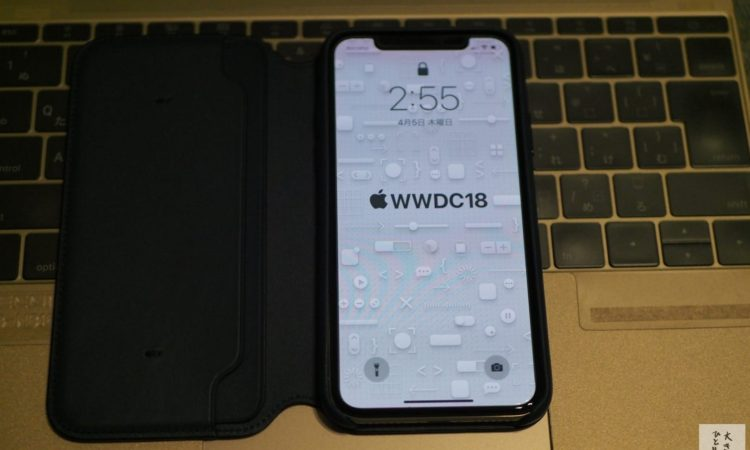 【純正】iPhone Xレザーフォリオケースを手に入れました。